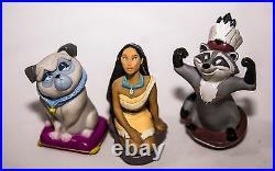 Pocahontas Meeko Flit Rubber Figures dolls By Janex Disney Vintage Rare Toys