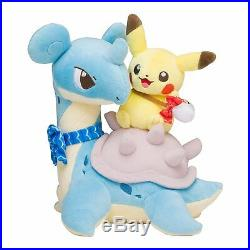 Pokemon Center Original Limited Plush Doll Pikachu & Lapras JAPAN OFFICIAL