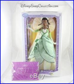 Poupée limitée Tiana DISNEY STORE limited edition LE La princesse et la. (VA)
