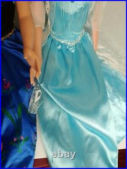 Princess Elsa & Anna Life Size Doll 38 Tall Frozen Lot Of 2 My Size Huge 3 Ft