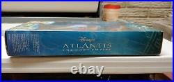RARE NIB Disney Atlantis Crystal Princess Kida doll withlight up necklace 29327