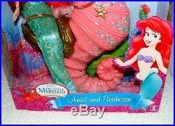 RARE Simba Little Mermaid Ariel & Seahorse Doll Set NRFB VHTF