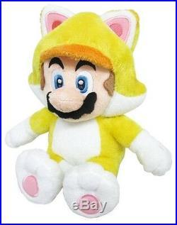 REAL 1371 Little Buddy Super Mario 10 Neko Cat Mario Plush Stuffed Doll Toy