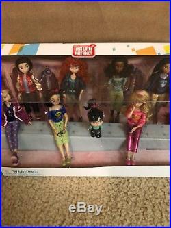 Ralph Breaks the Internet DISNEY PRINCESS 13-Doll Set with Vanellope NIB/Sealed