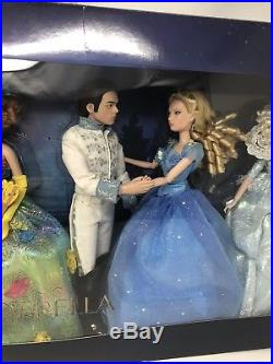 Rare DISNEY STORE Live Action Cinderella Movie 6 Doll Gift Set HTF 2015 Princess