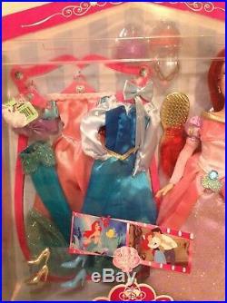 Rare DISNEY STORE princess wardrobe ARIEL 11 doll NEW IN BOX pasadena CA