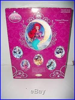 Rare Disney Brass Key Ariel Celestial Princess Porcelain Doll Little Mermaid