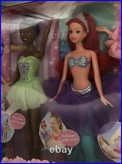 Rare Mattel Disney A Special Princess Day Doll Set Ariel Aurora Tiana Rapunzel