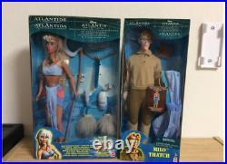Rare Mattel Disney Atlantis Princess Kida & Milo Thatch Dolls Japan Shipped
