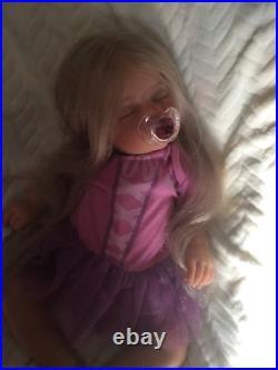 Reborn newborn fake baby lifelike doll rapunzel tangled disney princess custom