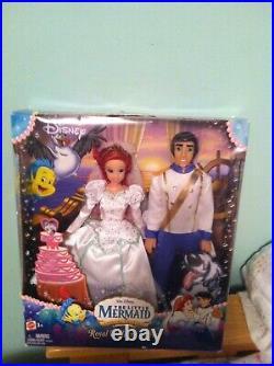 Royal Wedding day Princess Ariel & Prince Eric Little Mermaid Mattel 2006 NIB