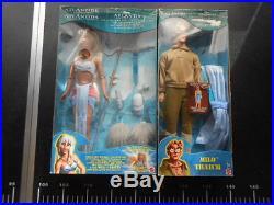 SET Disney Crystal Princess KIDA + MILO doll ATLANTIS Mattel 2000 light