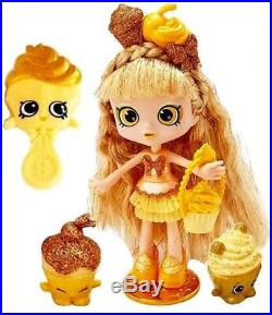 SHOPKINS SDCC 2016 JESSICAKE Limited Edition Golden Cupcake Doll Shoppies NEW