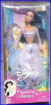SPARKLING JASMINE poupée Princesse DISNEY 2001 Mattel 54205 Aladdin DOLL NRFB