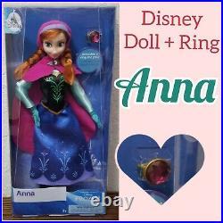 Set of 11 Disney Princess Classic 11.5 Dolls With Rings Aurora Ariel Elsa Anna