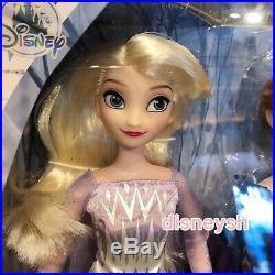 Shanghai Disney 2pcs Frozen 2 Princess Elsa Anna 12 Doll Action Figures toy set