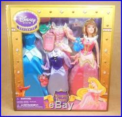 Sleeping Beauty Aurora Disney Store Exclusive 12 Inch Doll & Clothing Set RARE