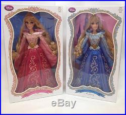 Sleeping Beauty Aurora Pink & Blue Limited Edition 17 Dolls Disney Le Princess