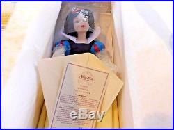 Snow White & The Seven Dwarfs Limited Edition Disney Princesses Porcelain Dolls