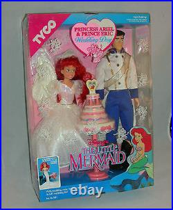 The Little Mermaid Princess Ariel And Prince Eric Wedding Day 1991 By Tyco New