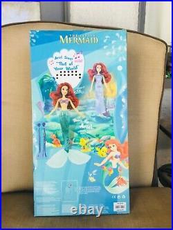 Very Rare Disney Ariel THE LITTLE MERMAID 17 singing Doll playset