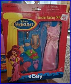 Vintage Disney Hercules Megara Doll & Dress Sets Lot 3 MiB 1996 Fashion Secrets