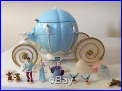 Vintage Polly Pocket 1998 Disney Princess Cinderella Carriage 100% complete